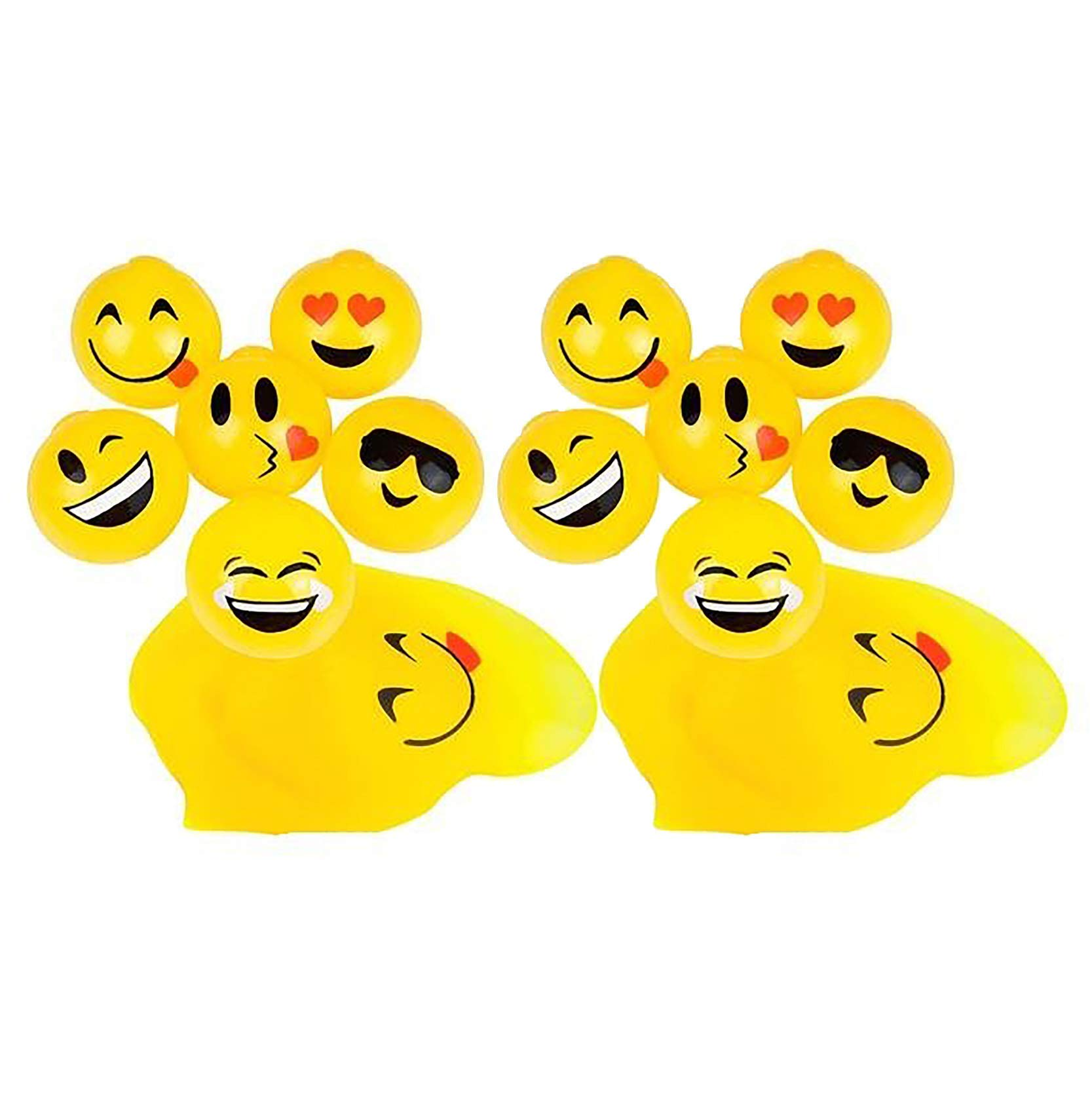 2.5'' Sticky Splat Emoticon Emoji Ball 2 Dozen 24 Pcs Xmas Stocking Stuffers By B.N.D
