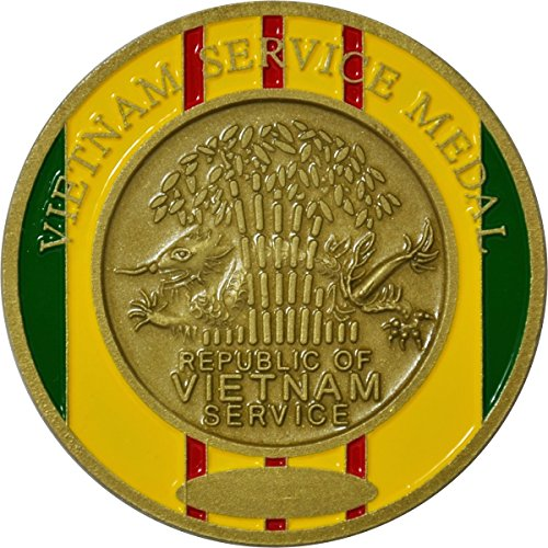 Vietnam Service Medal Ribbon Military Challenge Coin (Challenge Medal Coin)
