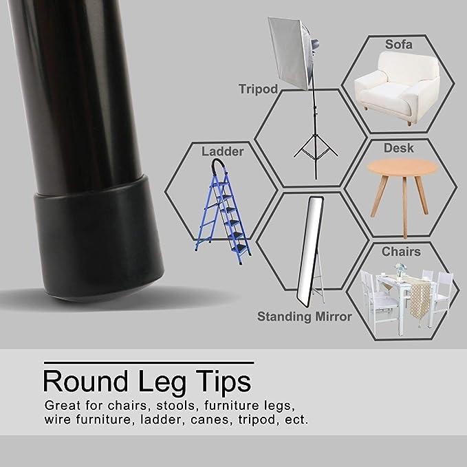 ALCOMPRA PVC Leg Caps Consejos Copa pies cubre 13 mm 0.51 ...