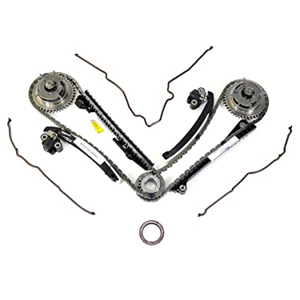 Ford 5 4L 3V Camshaft Drive Phaser Repair Kit - Phaser Sprockets,  Tensioners, Guides, Chains Kit