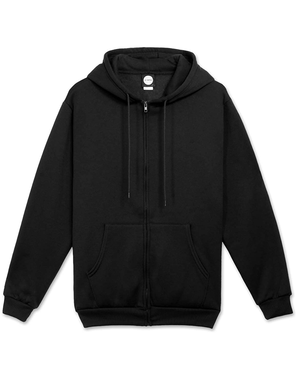 JC DISTRO Mens Hipster Hip Hop Basic Unisex Zip-Up Hoodie Jacket (Size Upto 5XL Big Size)