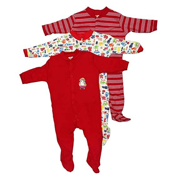 f1897c33268a Mini Berry Baby Boy Cotton Full Body Rompers in Red Color 0-3 Months -