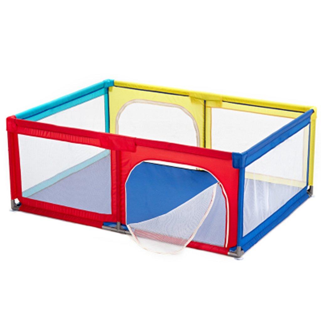 子供の子供の障壁ドア/ジップ、6パネルと折りたたみポータブルルームデバイダ (色 : Playpen and mat)  Playpen and mat B07DLC1W32