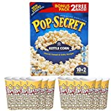 Kettle Corn Popcorn with FREE Serving Cups Bundle