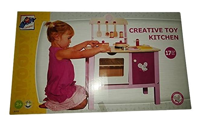 Hape International Woody Kinderküche Spielküche mit Zubehör NEU 17 TLG. Zubehör aus Holz