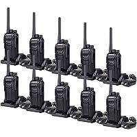 Retevis RT27 Two Way Radios Long Range 22CH VOX Voice Scrambling Security Walkie Talkie Rechargebale(Black, 10 Pack)