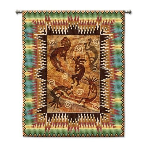 Fine Art Tapestries Kokopelli Tapestry Wallhanging
