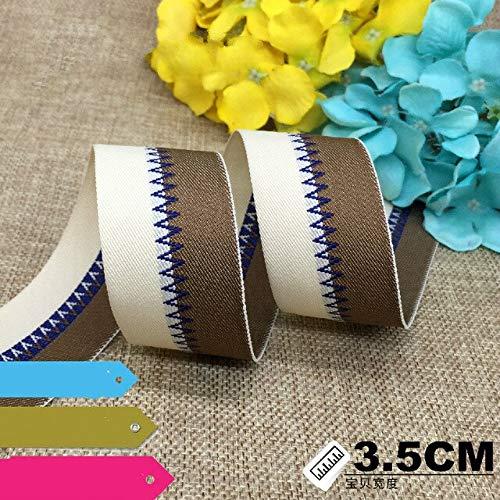 Jammas Hot Sale 2.5CM 3/8 inch Grosgrain Wave Ribbon Printing Belt Backpack Belt Decoration Tape DIY Garment accessories1meter 2 Colors - (Color: Picture Color)