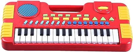 Anewu Piano Infantil, Juguetes Musicales para niños 31 Teclas Mini órgano electrónico música Piano Teclado didáctico Juguetes Musicales educativos ...