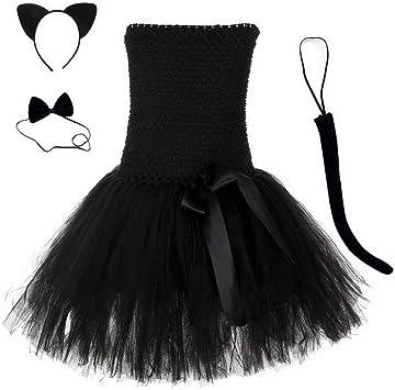 Disfraz de Gato Negro con tutú para niñas, Vestido de Princesa ...