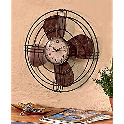 The Lakeside Collection Vintage Fan Wall Clock
