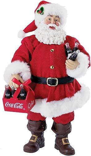 Kurt Adler Coca-Cola Santa Table Piece, 9-Inch, 6-Pack