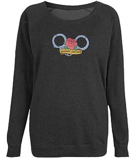 Naughty And Nice Women's Raglan Cotton Sweatshirt