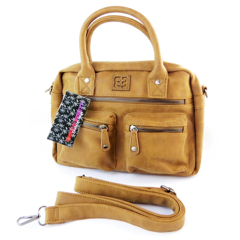 N5928 - french touch beutel kamelfarben vintage - 34x23x11 cm Enrico Benetti 9D5gWX
