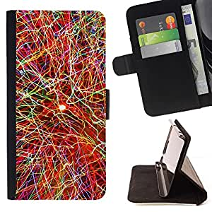 Momo Phone Case / Flip Funda de Cuero Case Cover - EXPLOSIÓN DE COLOR - Samsung Galaxy Note 5 5th N9200