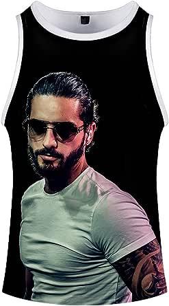 Maluma Camiseta Chaleco del Verano de Hip Hop Populares Tops Unisex 3D Personalizar Camiseta sin Mangas Unisex