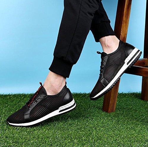 Automne Confort Chaussures Course Sport Chaussures Mode De Chaussures Printemps De Black 42 Casual De Sport Maille De Espadrilles Hommes XnaSWn