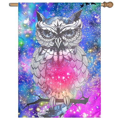 Garden Flag Colorful Owl Lawn Banner Outdoor Yard Home Flag Wall Decoration Flag 27