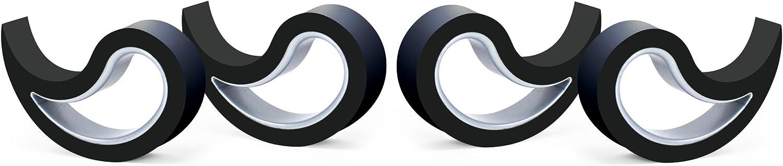 Stoppy Tope de Puerta/Ventana Juego de 4 Asequible en 14 Colores (Negro)