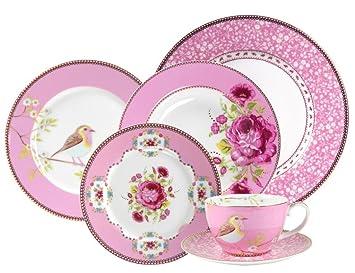 PiP Studio - Pink 24 Piece Set  sc 1 st  Amazon.com & Amazon.com   PiP Studio - Pink 24 Piece Set: Dinnerware Sets ...