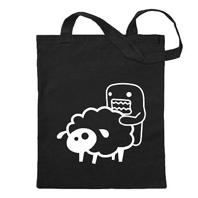 KIWISTAR - Domo sheep Jute bag in 12 different colors - printed Proverbs Sayings motifs Cotton bag Print school fitness shopping bag hanging on long handle Fun