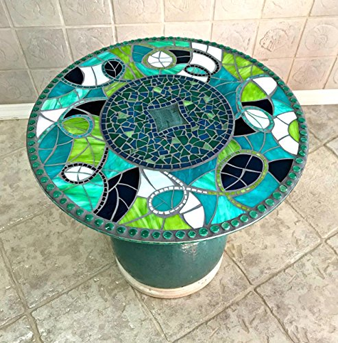 Cheap  Stained Glass Mosaic Accent Table