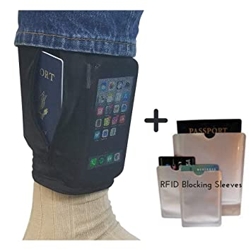 quality dependable performance outlet boutique Hidden Leg Wallet Slide on Security Pouch Under Pants RFID Blocking,  Conceal Valuables Travel