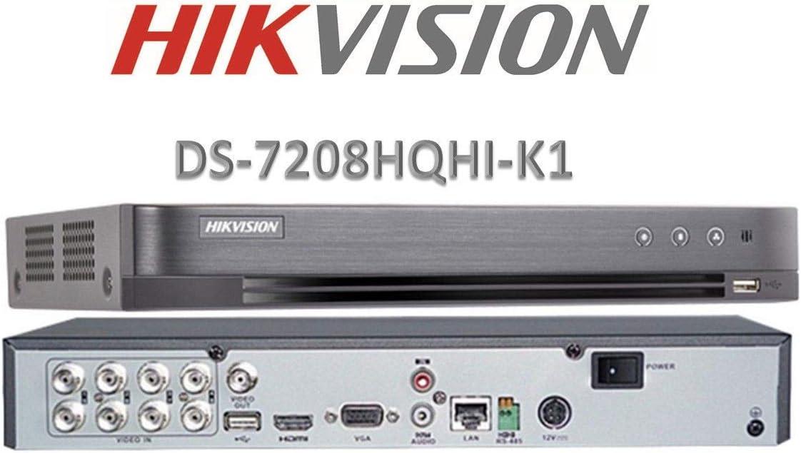 Hikvision - Kit de Cámara de Visión Nocturna para Exteriores (2,4 MP, 1080p, CCTV, DVR 1080P, Sistema de Seguridad de vigilancia doméstica, Cámaras Blancas de 2 TB), Gris