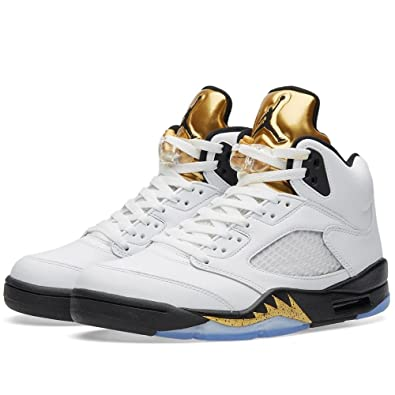 Nike Air Jordan 5 Retro Olympic (Gold Metal) 136027-133 August 20,
