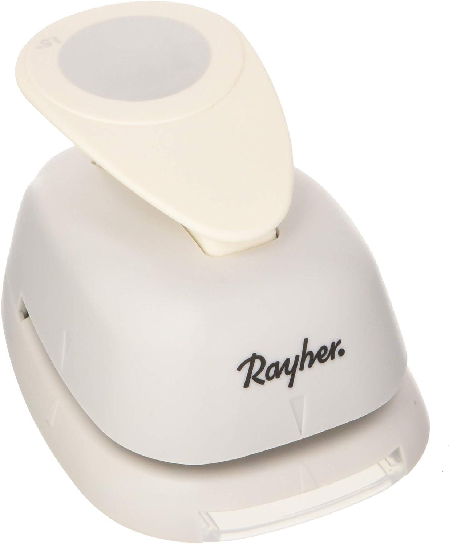 1 Agujero RAYHER HOBBY 8960400 Perforadora de Papel Surtido 1 1//2 /ø 3,81 cm,