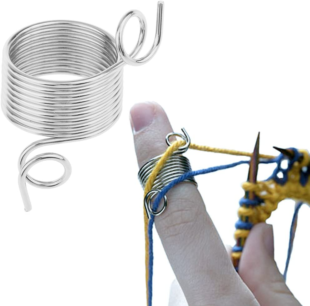 EXCEART 2Pcs Stricken Fingerhut 4 Schlitze Kunststoff Fadenf/ührung Garn Federf/ührungen Stricken Neddle Fingerhut N/ähen Zubeh/ör f/ür Die Herstellung von H/äkelpullover Stricken Zuf/ällige