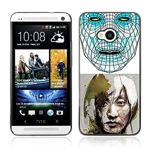 Designer Depo Hard Protection Case for HTC One M7 / Sci-Fi Future Art