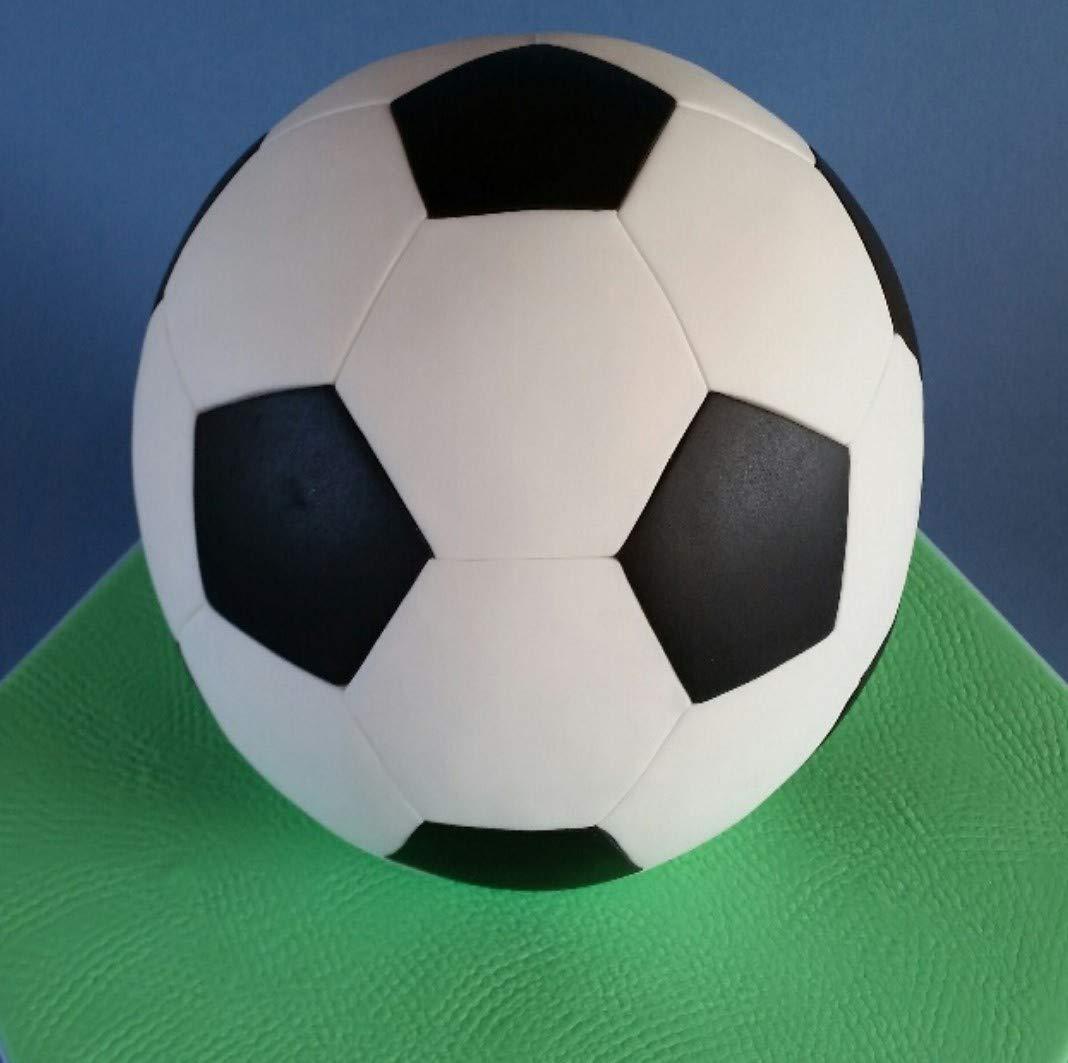 Valley Cutter Company - Juego de moldes cortadores esféricos de acero inoxidable para tartas con forma de balón de fútbol americano (hexágono y pentágono) ...