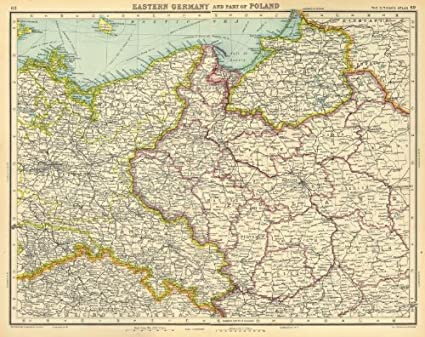 Show Map Of Germany.Amazon Com Eastern Germany Poland Shows The Free City Of Danzig