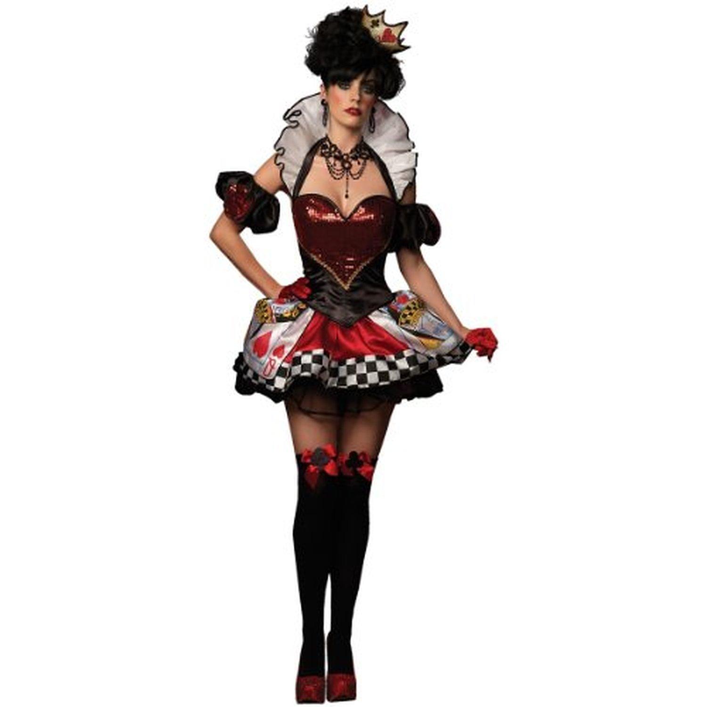 Women's Deluxe Sexy Red Queen Card Costume - DeluxeAdultCostumes.com