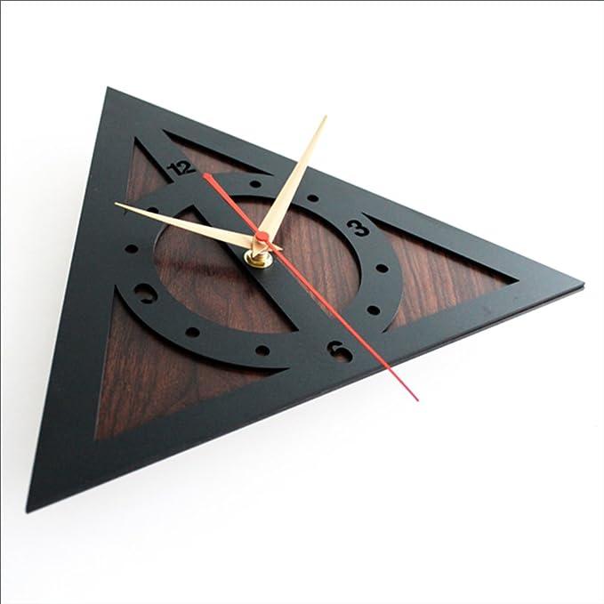 Relojes De Pared De 12 Inch Creativo Harry Potter Death Sage Sign Relojes De Pared Silencioso,Mahoganycolor