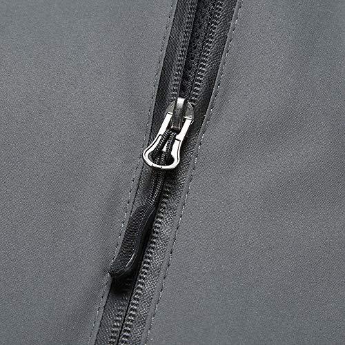 Unie Coupe Millenniums Grande Veste Pliable Casual vent À Jacket Couple Pluie Hoodie Capuche Manches Gris Taille Zippé De Imperméable Manteau Longues Couleur Outwear Sport v8rqwn8Y6