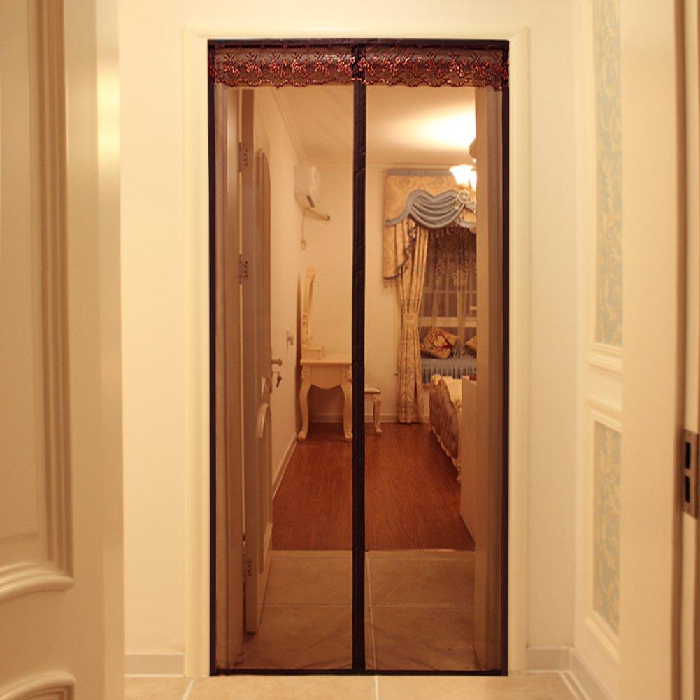 Velcro magnétique porte mous moustiquaire, Rideau de séparation Rideau anti-moustiques Respirant en été Cryptage de chambre à coucher,A_140x240cm LE