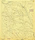 Meridian TX topo map, 1:125000 scale, 30 X 30 Minute, Historical, 1888, 18.7 x 16.5 IN - Paper