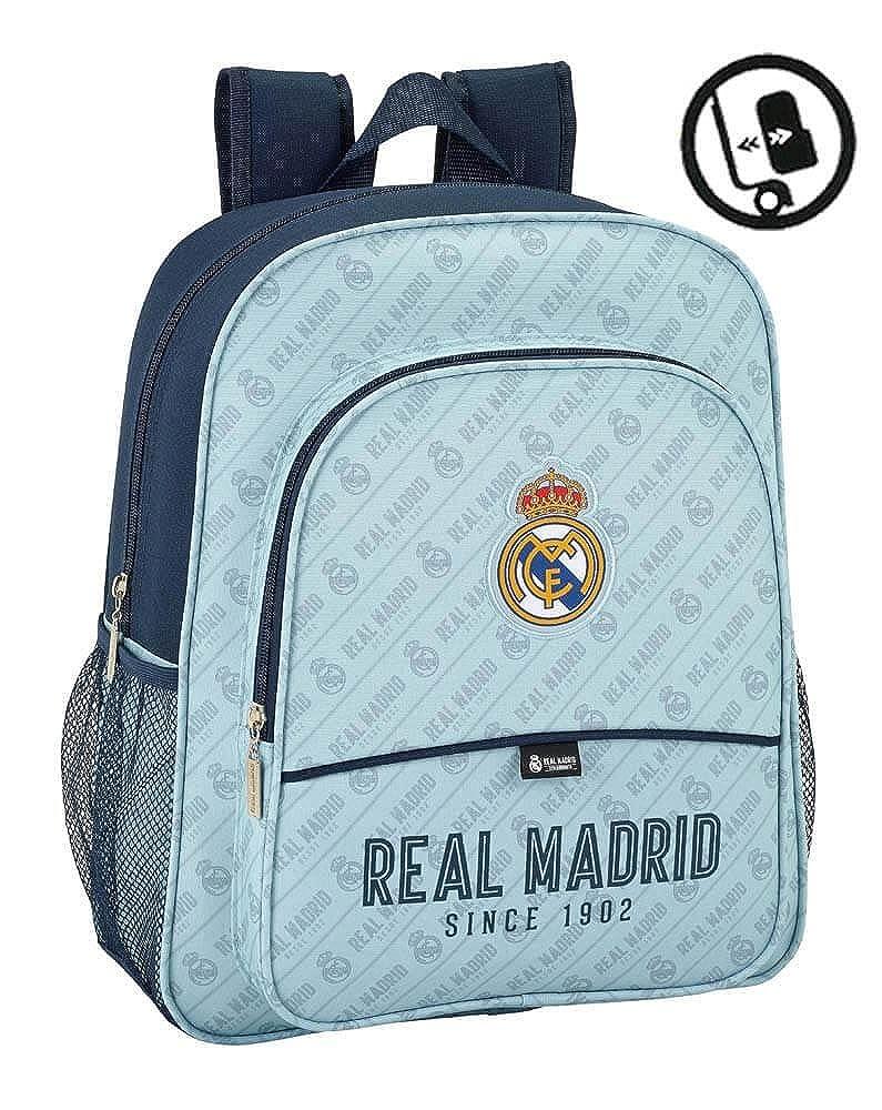 Safta Mochila Escolar Junior Real Madrid Corporativa Oficial 320x120x380mm 611444615