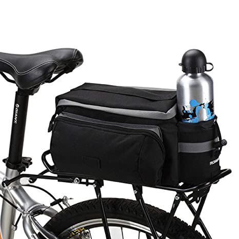 Bicycle Riding Luggage Bag for Snacks Cellphone 6L 600D Dacron Extendable Black