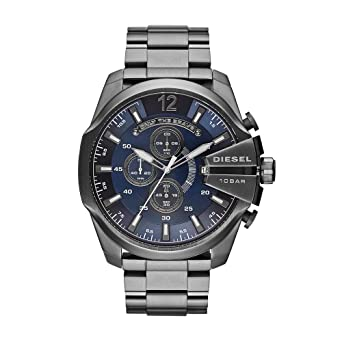 3894ce7e8 Image Unavailable. Image not available for. Color: Diesel Men's Mega Chief  Quartz Stainless Steel Chronograph Watch ...