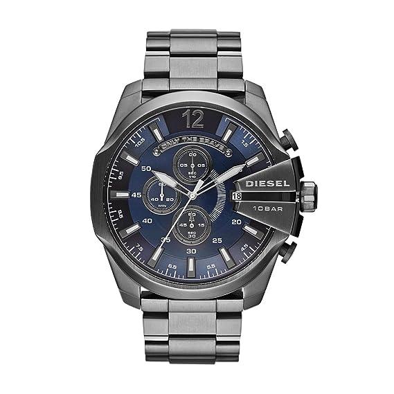 Diesel Reloj Analógico para Hombre de Cuarzo con Correa en Acero Inoxidable DZ4329: Amazon.es: Relojes