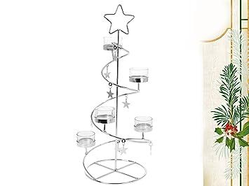 Weihnachtsbaum Metall Spirale.Teelichthalter Weihnachtsbaum Tannenbaum Stern Spirale 45 Cm