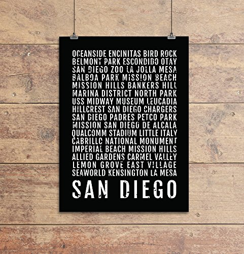 san-diego-print-neighborhoods-subway-sign-poster-wall-art-dcor-canvas-word-map-gift-bus-scroll-typog