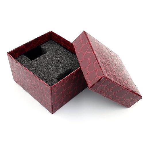 Reloje Hombre Caja, Xinan Hombres Reloj + Crocodile Durable Presente Caja de Regalo 2PC (Rojo): Amazon.es: Relojes