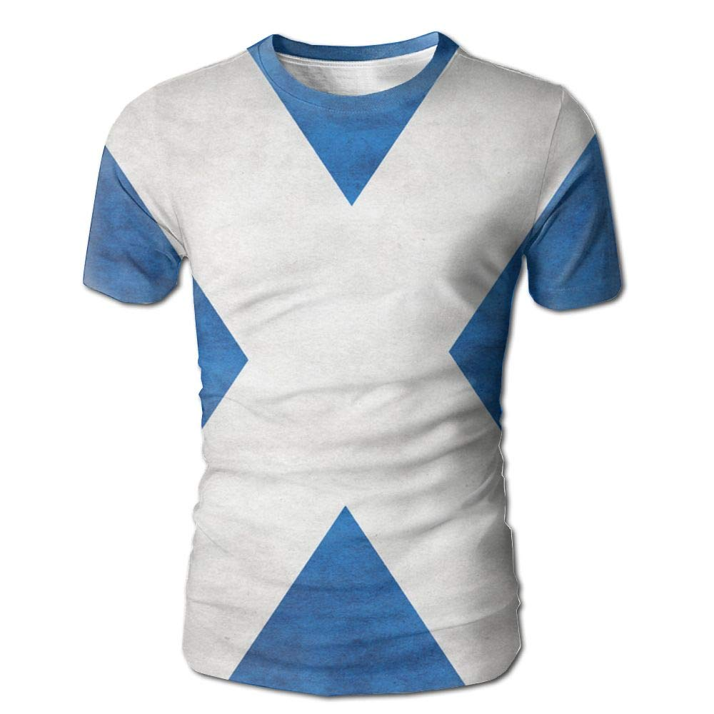 CUTEDWARF Hawaiian Short Sleeve Crewneck Tee 3D Printed Scotland Retro Flag T-Shirt
