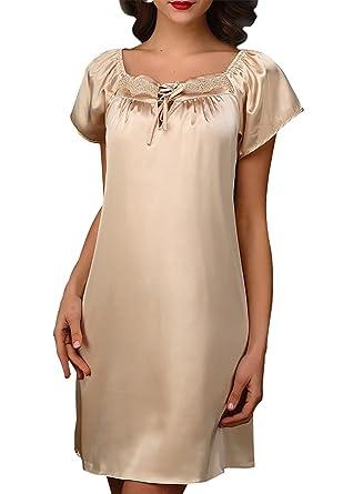 Short Sleeve Chemise Dress