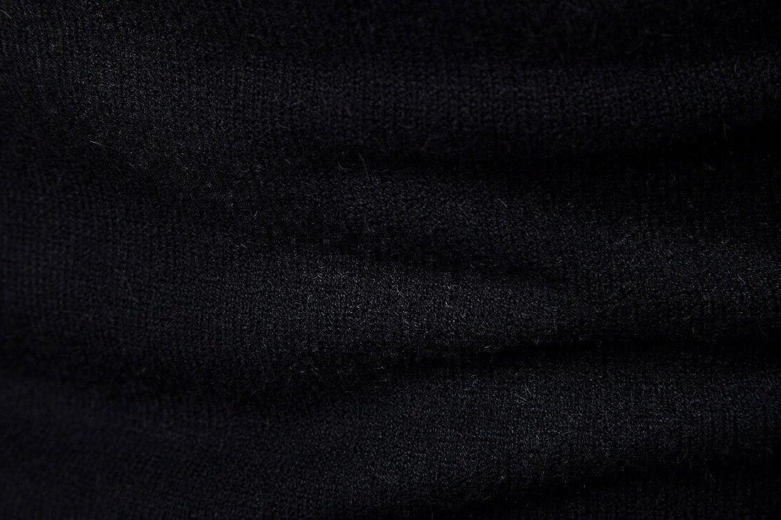 Su/éter para Hombre Cuello Alto Jersey de Punto B/ásico Manga Larga de Color Liso