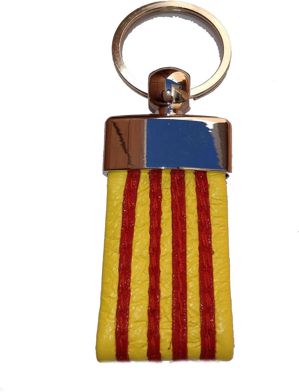 Llavero de Piel Bandera de Catalunya: Amazon.es: Ropa y accesorios